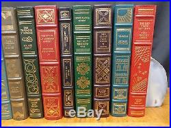17 Volumes Of The Franklin Library Signed First Edition Society Leather/signed