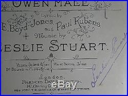 1899 Florodora LESLIE STUART'S COPY! Annotated Signed FIRST EDITION Musical Book
