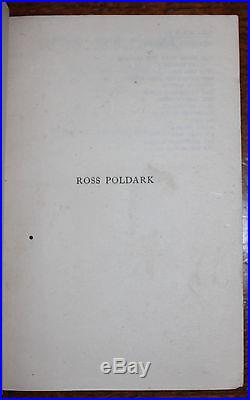 1945 Ross Poldark Novel of Cornwall 2 SIGNED by W GRAHAM Full First Edition Set