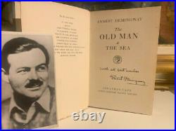 1952 Signed by Ernest Hemingway Book The Old Man the Sea with COA First Edition