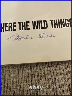 1963 Where The Wild Things Are 1st Edition Signed By Maurice Sendak, Very Rare