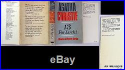 1966 13 For Luck! , Agatha Christie Signed Inscribed, First Edition Short Stories