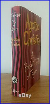 2 Signed Agatha Christie First Editions (Pocket Full of Rye & Sparkling Cyanide)