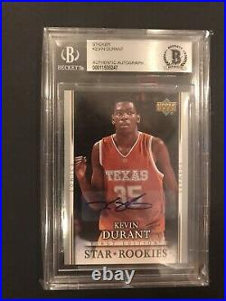 2007-08 UD First Edition Star Rookies Kevin Durant Auto RC Signed BGS