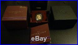 2015 Full Gold Sovereign 5th Portrait First Edition Signed by Jody Clark