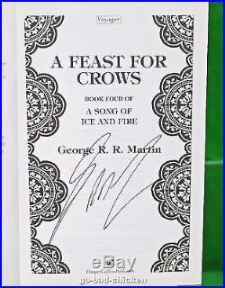 3 SIGNED A Game Of Thrones by George RR Martin U. K. 1st First Edition 4 Book Set