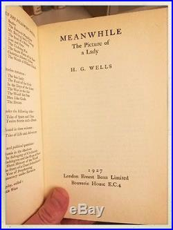 4 Book Lot SIGNED 1st H. G. WELLS JAMES AGEE HENRY ROTH JEAN RHYS FIRST EDITION