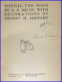 A A Milne, Alan Alexander / WINNIE THE POOH Signed 1st Edition 1926