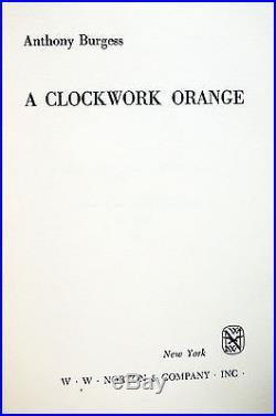 A Clockwork Orange Signed Anthony Burgess First Edition US 1st Printing Rare