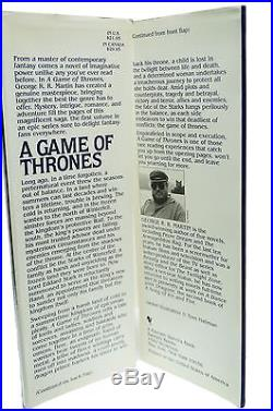 A Game of Thrones George R. R. Martin First Edition 1st Printing 1996 Book