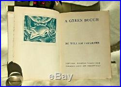 A Green Bough, Signed by WILLIAM FAULKNER First Edition, 1933 Lynd Ward 103/350