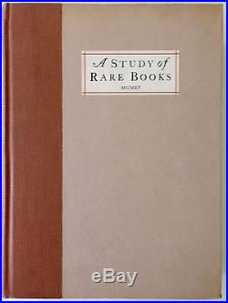A Study of Rare Books Nolie Mumey PRISTINE Signed Limited First Edition 1930