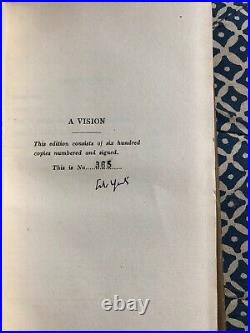 A Vision, W B Yeats. First Edition 1925. Signed by the Irish Author