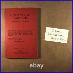 A Wizard of Earthsea, Ursula Le Guin (Uncorrected Proof, First Edition, Signed)