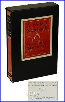 A Writer's Notebook W. SOMERSET MAUGHAM SIGNED Limited First Edition 1949 1st