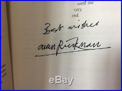 ALAN RICKMAN SIGNED Harry Potter book The Deathly Hallows FIRST EDITION
