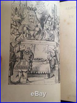 ALICE'S ADVENTURES IN WONDERLAND LEWIS CARROLL 1868 SIGNED FIRST EDITION