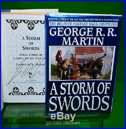 ALL 5 SIGNED A Game Of Thrones by George RR Martin 1st FIRST EDITION HC Book Set
