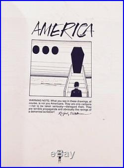 AMERICA-BY RALPH STEADMAN-1st Edition 1st Printing-1974-SIGNED-RARE-COLLECTIBLE