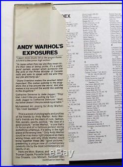 ANDY WARHOL EXPOSURES SIGNED Twice + Drawing First Edition 1979
