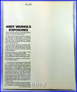 ANDY WARHOL Exposures SIGNED Dust Jacket / 1st Edition Book 1979