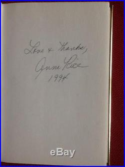 ANNE RICE SIGNED INTERVIEW WITH THE VAMPIRE FIRST EDITION