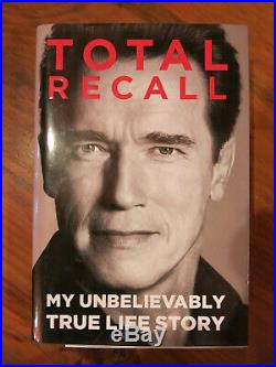 ARNOLD SCHWARZENEGGER Signed TOTAL RECALL Autobiography Book 1st Edition 2012
