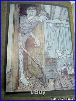 ARTHUR RACKHAM SIGNED FAIRY BOOK/1916/RARE FIRST LIMITED EDITION/12 COLOR PLATES