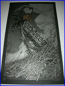 Aaron Horkey Converge Concert Poster First Edition 2012 Signed Silk Screen Print