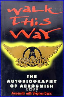 Aerosmith (5) Tyler, Perry, +3 Signed Walk This Way First Edition Book BAS