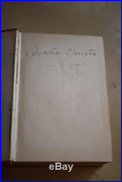 Agatha Christie (1933)'Lord Edgware Dies', signed UK first edition 1/2