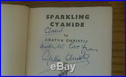 Agatha Christie 1945 SPARKLING CYANIDE, SIGNED INSCRIBED FIRST EDITION 1st print