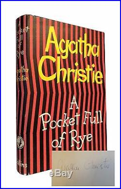 Agatha Christie A Pocket Full of Rye First UK Edition SIGNED Collins 1953