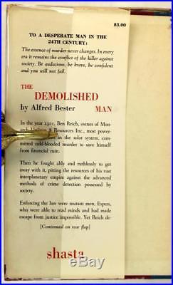 Alfred Bester Signed First Edition Hugo Award 1953 The Demolished Man HC withDJ