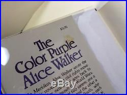 Alice Walker THE COLOR PURPLE First Edition First Printing Signed Index Card