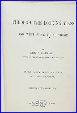 Alice in Wonderland, Through the Looking Glass Early Printings with Signed Card