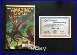 Amazing Fantasy #15 Signed Stan Lee Coa Marvel 1st Spider-man Ross Variant #1