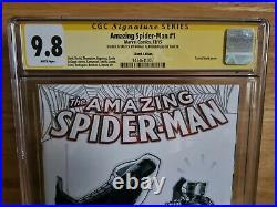 Amazing Spider-Man #1 CGC SS 9.8 2015 Signed + Sketch Rafael Albuquerque