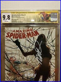 Amazing Spider-Man #4 110 Variant CGC SS 9.8 1st Silk signed by Humberto Ramos