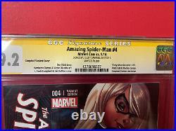 Amazing Spider-Man # 4 Variant Signed J Scott Campbell Conquest 1st Silk CGC 9.2