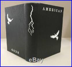 American Gods GAIMAN First Edition SIGNED Design Binding 2001