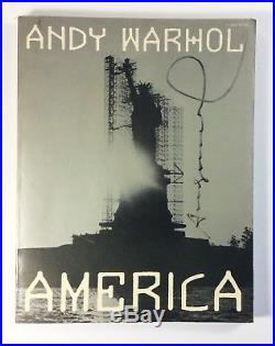 Andy Warhol America Book signed first edition 1985