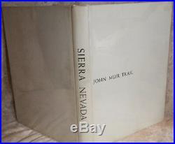 Ansel Adams, SIERRA NEVADA THE JOHN MUIR TRAIL 1938 1st Edition Near Mint