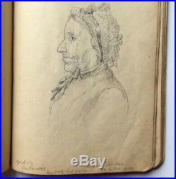 Antique 1880s Handwritten Diary Sketchbook Brooklyn NYC Templeton MA Lucas Baker