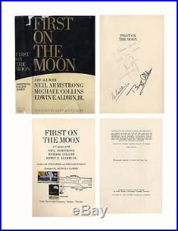 Apollo 11 Crew Signed First Edition First on the Moon Neil Armstrong Buzz Aldrin
