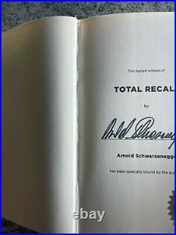 Arnold Schwarzenegger Signed Autographed Total Recall 1st Edition Book 521/1000