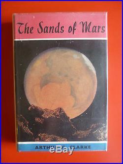 Arthur C Clarke,'Sands of Mars', UK true first edition 1st/1st SIGNED