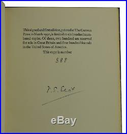 Ash Wednesday T. S. ELIOT Signed Limited First Edition 1/600 1st 1930