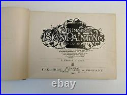 Atkinson Sign Painting 1st Edition ORIGINAL 1909 Sign Painting Up To Now RARE