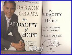 Audacity of Hope, Barack Obama, First Edition, Signed